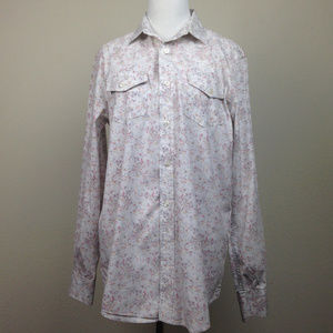 American Rag Paisley Button Up Shirt small